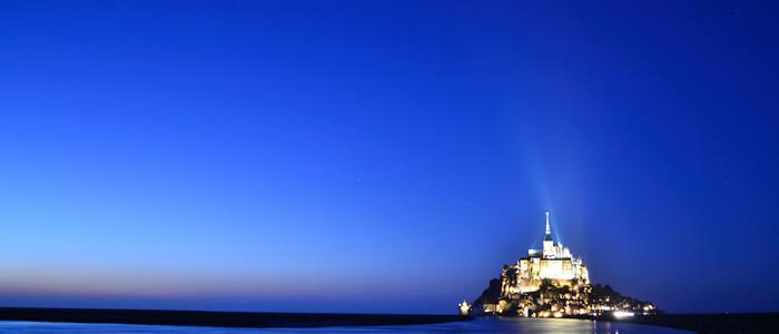Mont Saint Michel_de nuit